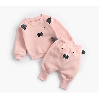 Baby Autumn Winter Cartoon Cute Clothing Pullover Sweatshirt Top And Pant