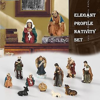 Christmas Home Decoration Elegant Profile Nativity Set