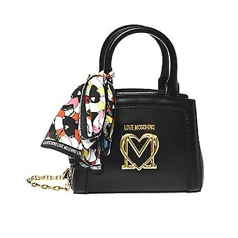 Women:s Bag Love Moschino A Mano/ Olkahihna 2 osastoa mustalla huivilla Bs21mo90 Jc4261