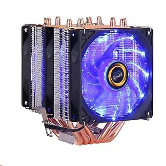 6 الحرارة أنابيب RGB وحدة المعالجة المركزية برودة المبرد التبريد 3pin 4pin 2 مروحة للغا