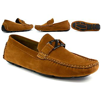 Boy's Faux Suede 'z' Loafer Tan