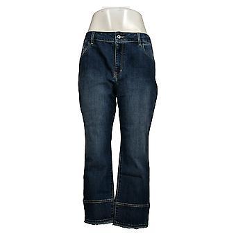 Susan Graver Women's Petite Jeans Stretch Denim Blue A390474