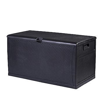 Impermeável ao ar livre bloqueável preto armazenamento Chest caixa unidade-almofadas brinquedos ferramentas