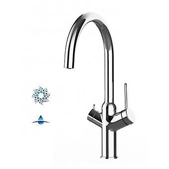 4-ways Kitchen Tap Filter Mixer For Sparkling And Still Water Filter Systems With 360 ° Swivel Spout - Chrome - 580
