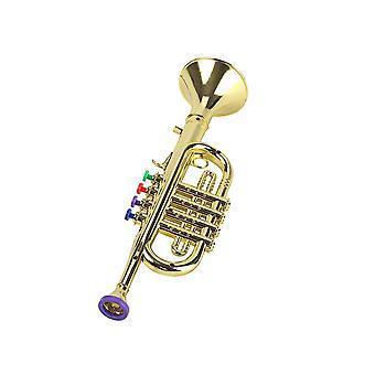 Kind Mini Kunststoff Trompete mit 3 farbigen Tasten