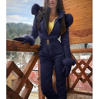 Zimní ženy>s Kombinézy s kapucí Teplé šerpy Lyžařský oblek Rovný zip