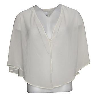 Susan Graver Women's Sweater Chiffon Multi-Way Shawl Ivory A374024
