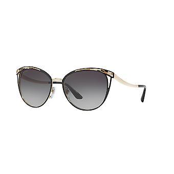 Bvlgari BV6083 2018/8G Black-Pale Gold/Grey Gradient Sunglasses