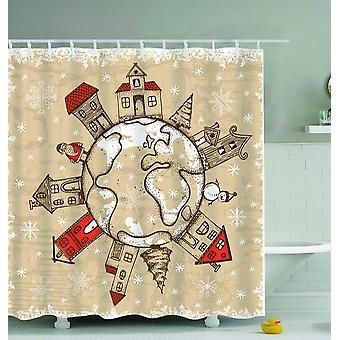 Christmas All Around The World Shower Curtain