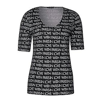 Street One 313937 Palmyra T-Shirt, Multicolored (Black 20001), 48 (Size Manufacturer: 42) Woman