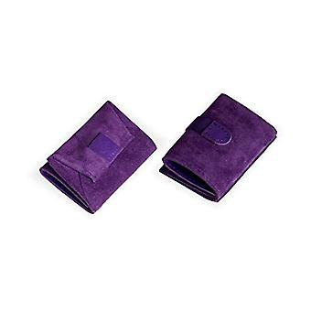 Dallaiti Design Wallet With Pigmented Leather Coin Case, Women's Coin Purse, Purple (Purple), 7x1x10 cm (W x H x L)
