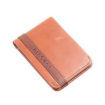 Rip Curl Onset RFID Slim Leather Wallet en marrón