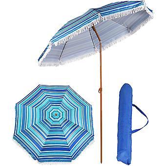 Parasoll 180 cm - parasoll med väska - multiblå