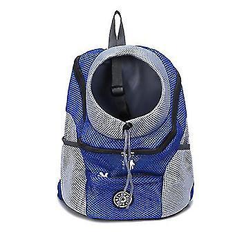 S 30 * 34 * 16cm umăr albastru portabil câine de călătorie rucsac pentru animale de companie az6479