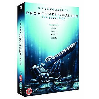 Prometheus to Alien The Evolution Box Set DVD