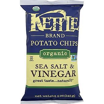 Kettle Foods Chip Potato Sslt&Vngr Org, Case of 15 X 5 Oz