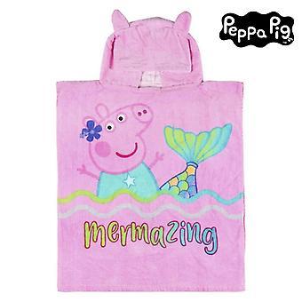 Poncho-Towel with Hood Peppa Pig 75513 Cotton