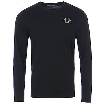True Religion Palms Reverse Long Sleeve T-Shirt - Black