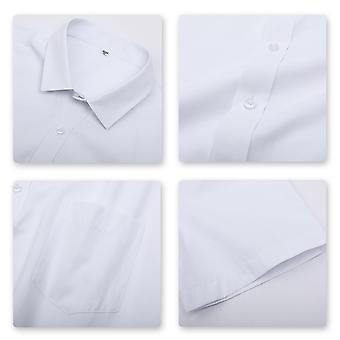 Yunyun Men's Lapel Solid Color Business Casual Short-sleeved Shirt