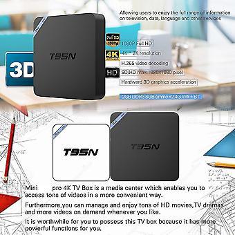 T95n Hd 4k S905 2.4ghz Quad Core Wifi 1g+8g 2g+8g Android 6.0 Smart Tv Box