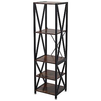 Étagère en bois industriel à 5 niveaux