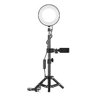 ZOMEI 6 pulgadas de escritorio portátil Selfie LED anillo de luz 3000-6000K 3 modos de luz brillo regulable