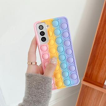 Samsung s21 étui de téléphone mobile rainbow décompression s10 contrôle des rongeurs
