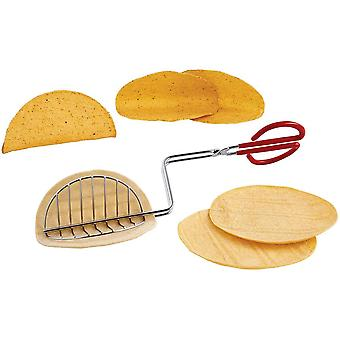 Norpro Taco Press Shell Maker Press Tortilla Fryer Tongs With Coated Handle Kitchen Utensils