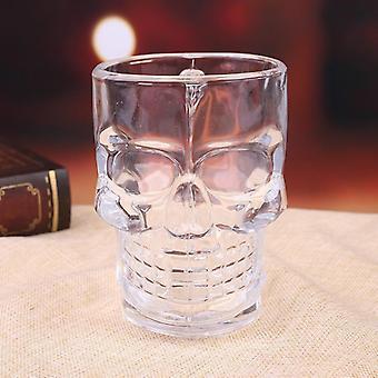 Totenkopf Biergläser Kaffeebecher Kaffeebecher und Tassen Transparent mit Griff Weinglas (weiß)