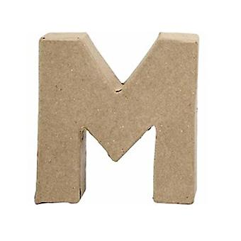 ÚLTIMOS POCOS - Pequeño 100mm Papel Mache Carta M | Formas de Papel Maché