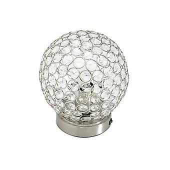 Glam Globe Beaded Crystal USB skrivebordslampe