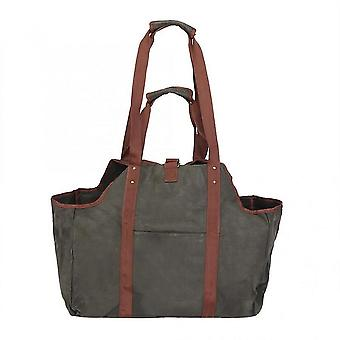 Household Waxed Wood Bag Travel Portable Large Thicken Firewood Log Carrier Tote Bag Organizer