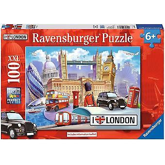 Ravensburger 10607 London-100 Puslespill Ekstra Store Stykker