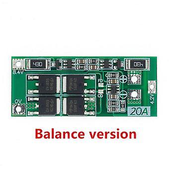 2Pcs 2s 20a 7.4v 8.4v 18650 carte de protection de batterie au lithium / carte bms standard / balance