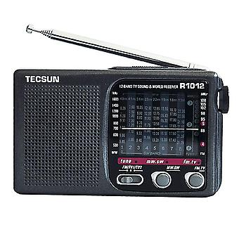 Bärbar FM / MW / SW / TV Radio Multiband World Band Radio Receiver 76 108MHz