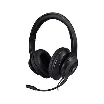 V7 HC701, Auriculares, Diadema, Llamadas/Música, Negro, Binaural, Volumen +, Volumen -