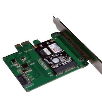 mSATA SSD PCIe Expansion Card, 6 Gbps, Green