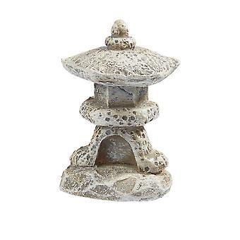 3,5 cm Grau Mini Runde Pagode Figur für Miniatur oder Zen Gärten