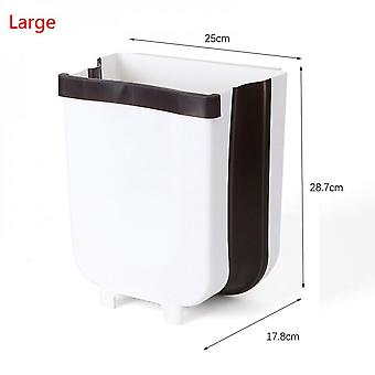 9l Folding Wall-mounted Trash Can, Door-mounted Kitchen Trash Can, Bathroom Trash Can, Toilet