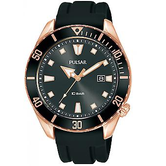 Reloj Pulsar Black Silicone PG8312X1 Hombre