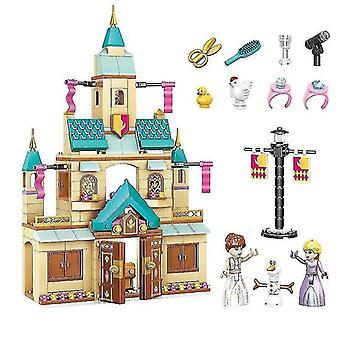 Jigsaw puzzles age 3+  360 pieces disney frozen princess elsa and anna building model blocks set for children 2