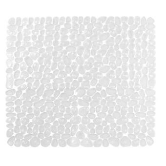 Neliömäinen mukulakivimatto liukastumisenestokylpyallas ja suihkutyyny (54 *54cm)(Musta)