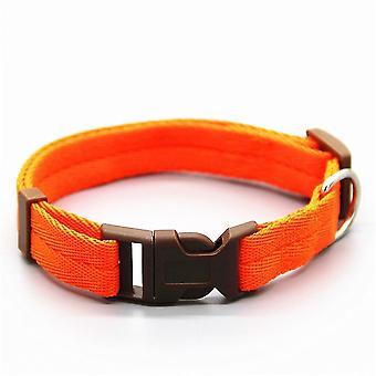 Muss verstellbare Nylon-Hundehalsbänder haben (L 30-50cm) (Orange)