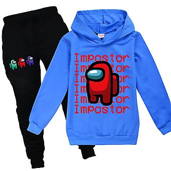 Among Us Game Kids Hoodie Top Trousers Set Impostor Outfit Clothes
