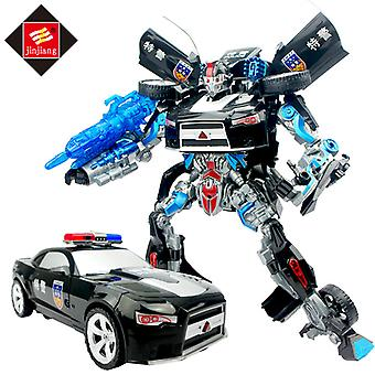 Police Car Sound And Light Version Of The Car Robot Boy Hand-made Toy
