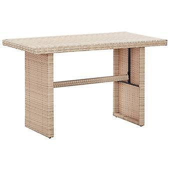Chunhelife Table de Jardin Beige 110x60x67 Cm Poly Rotin