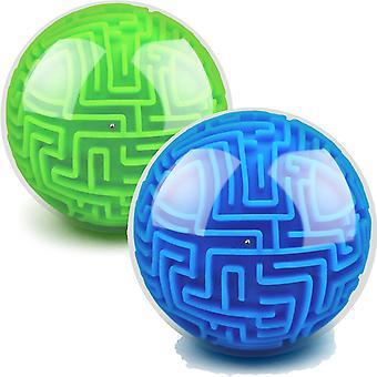 Labyrint Ball 3D Labyrint Puzzle Brain Teasers Gravity 4in Puslespil Legetøj 2pcs