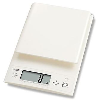 Tanita Digital Kitchen Scales 3KG with 0.1 g Fine Increments - Cream (KD320WH33)