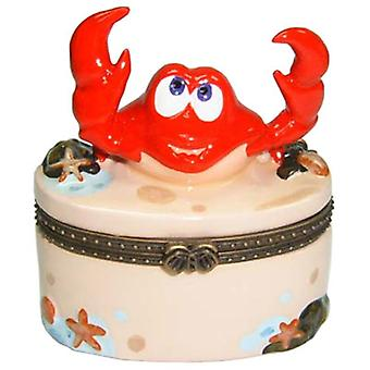 Atlantic Red Crab Claws Porzellan klappbar Trinket Box phb
