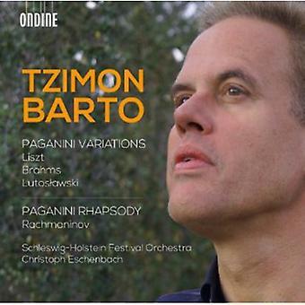 Liszt/Brahms/Lutoslawski/Rachmaninov - Tzimon Barto-Paganini Variations & Paganini Rhap [CD] USA import